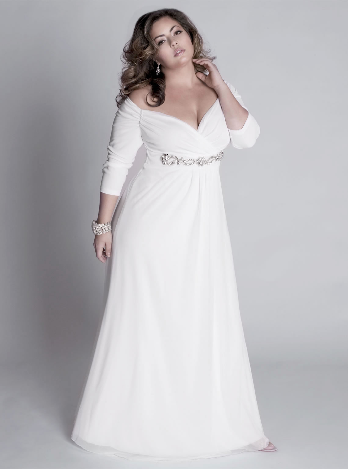 informal plus size wedding dresses photo - 1