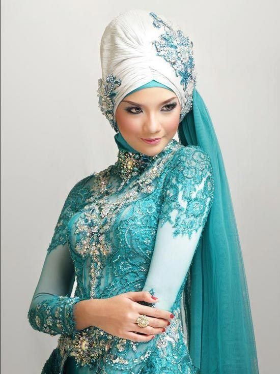 islamic wedding dresses with hijab photo - 1