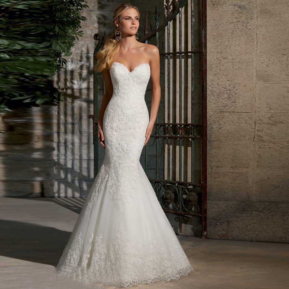 ivory color wedding dresses photo - 1