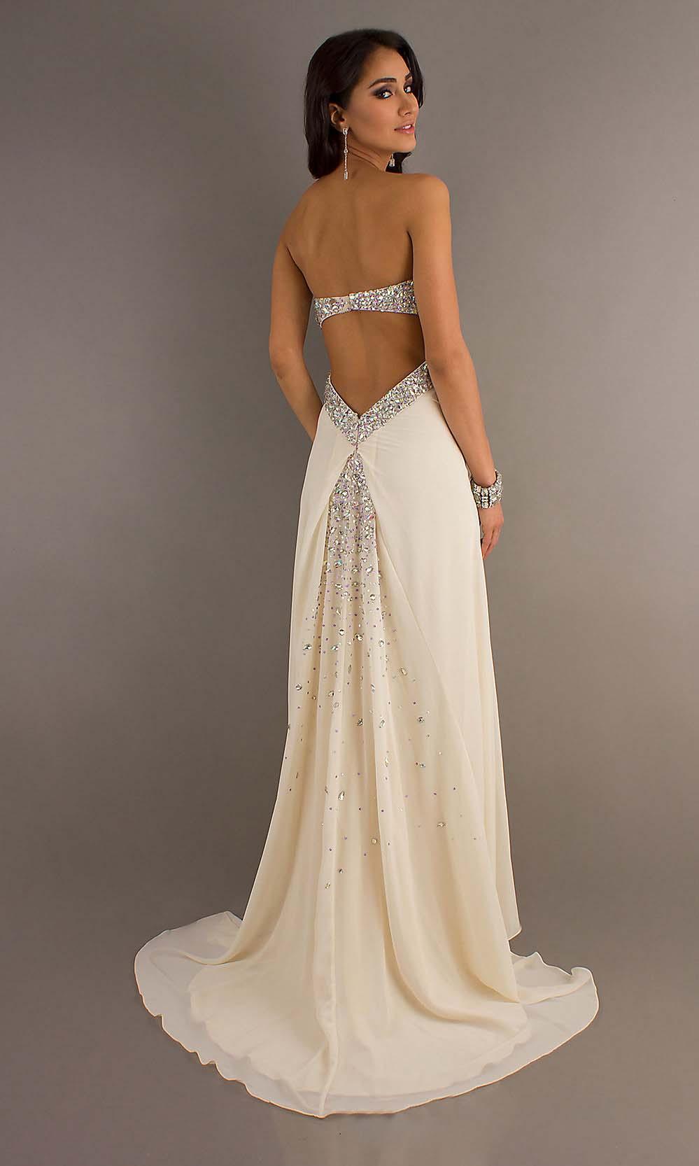 ivory gold wedding dresses photo - 1