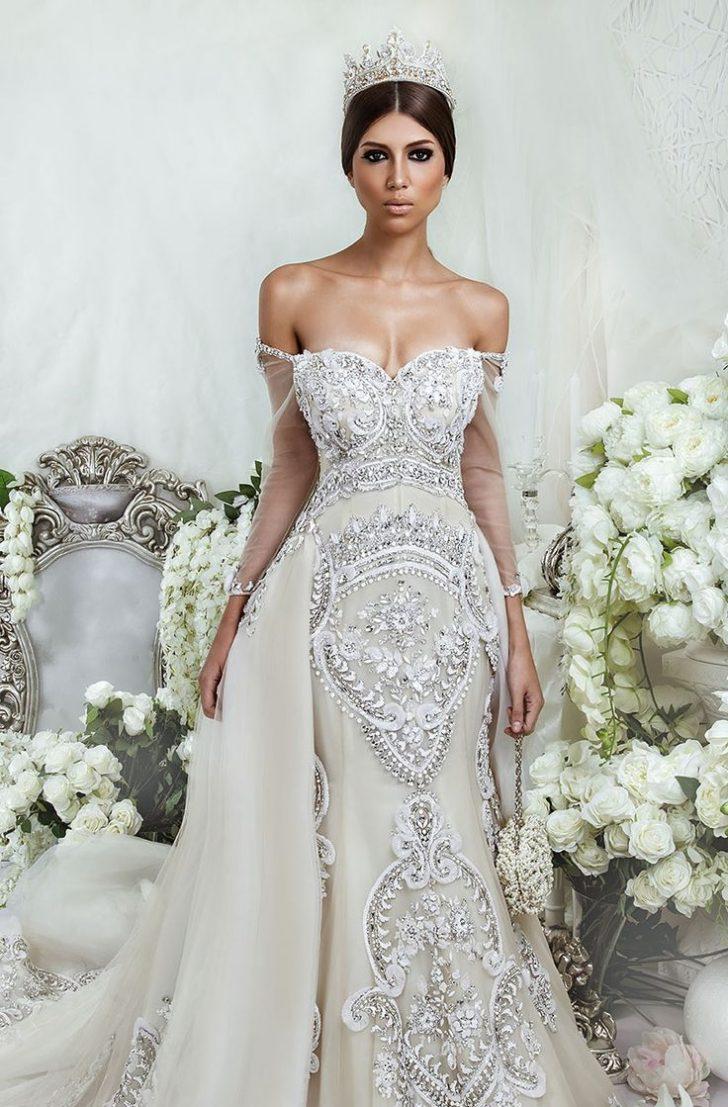 jeweled mermaid wedding dresses photo - 1