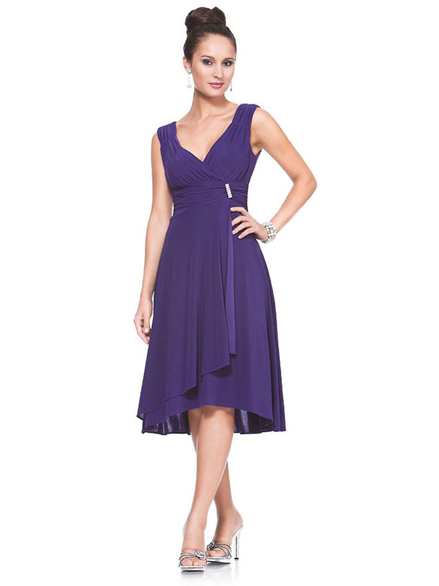 knee length dresses for wedding guests photo - 1