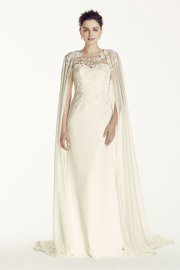 lace and chiffon wedding dresses photo - 1