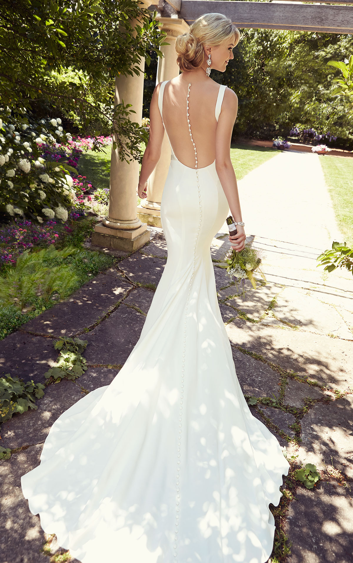 lace and satin wedding dresses photo - 1