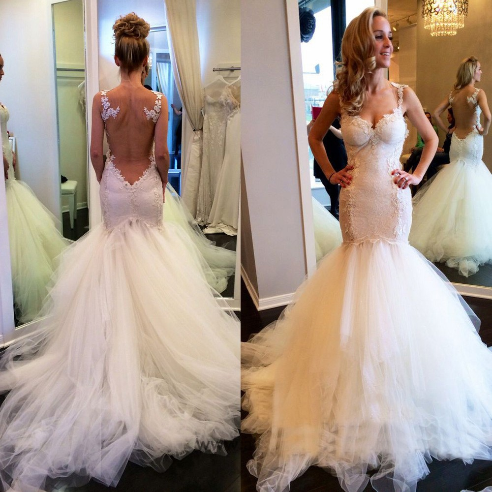 lace and tulle wedding dresses photo - 1