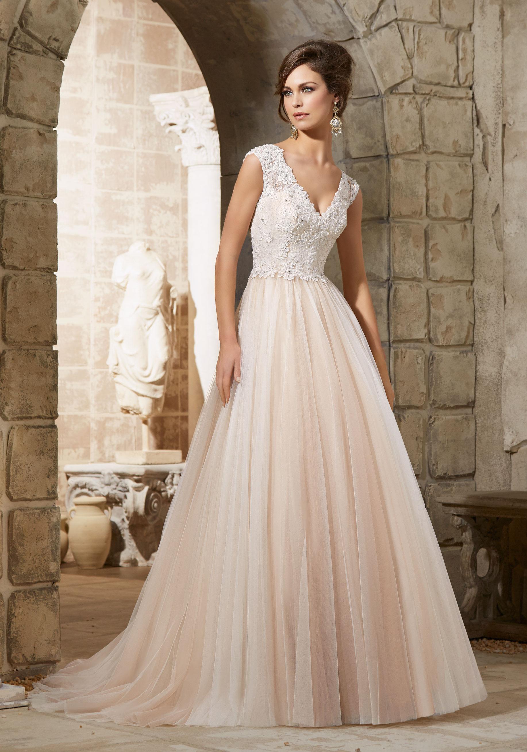 lace appliques wedding dresses photo - 1