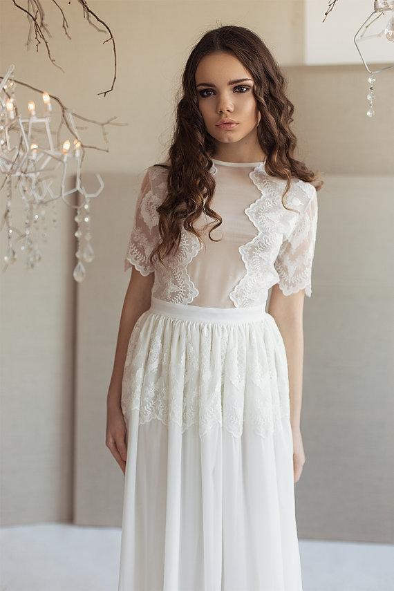 lace boho wedding dresses photo - 1