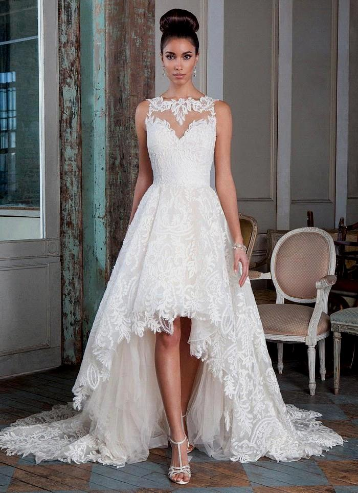 lace high low wedding dresses photo - 1