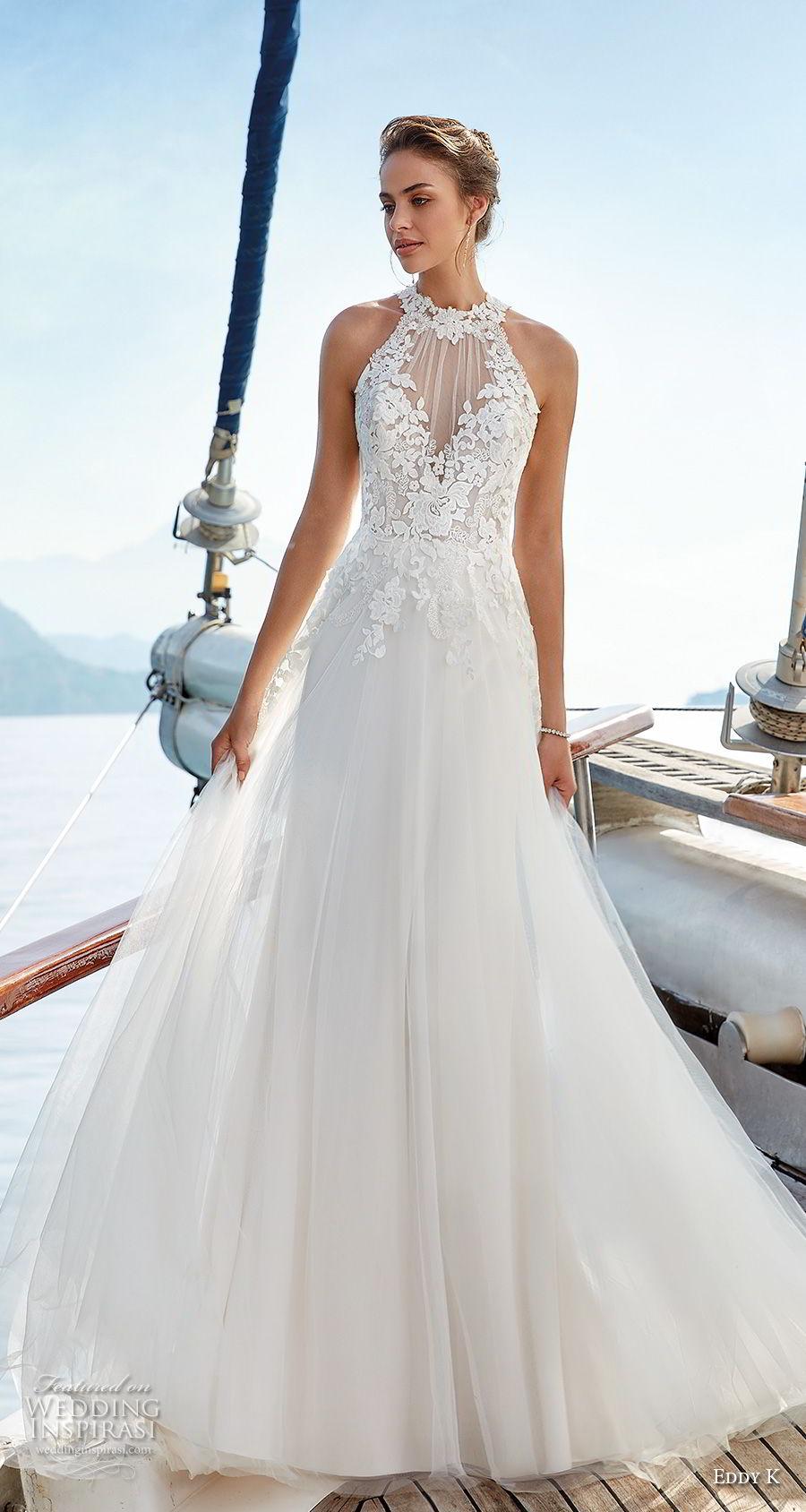 lace illusion wedding dresses photo - 1