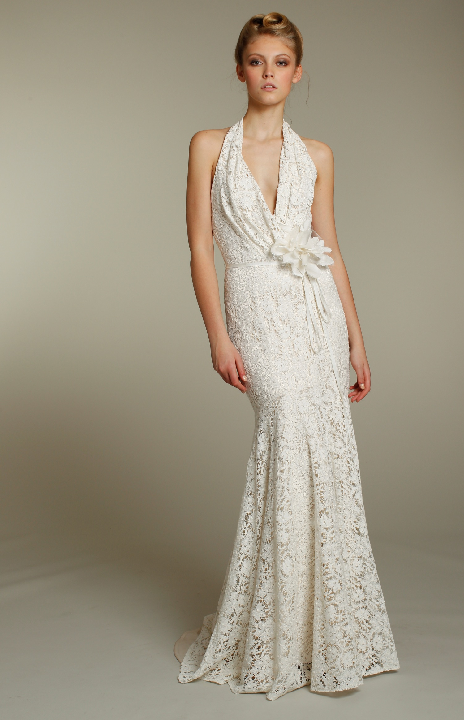 lace informal wedding dresses photo - 1