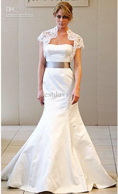 lace jackets wedding dresses photo - 1