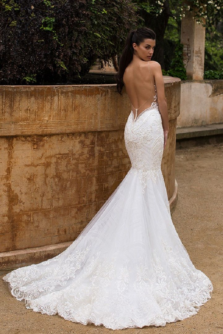 lace low back wedding dresses photo - 1