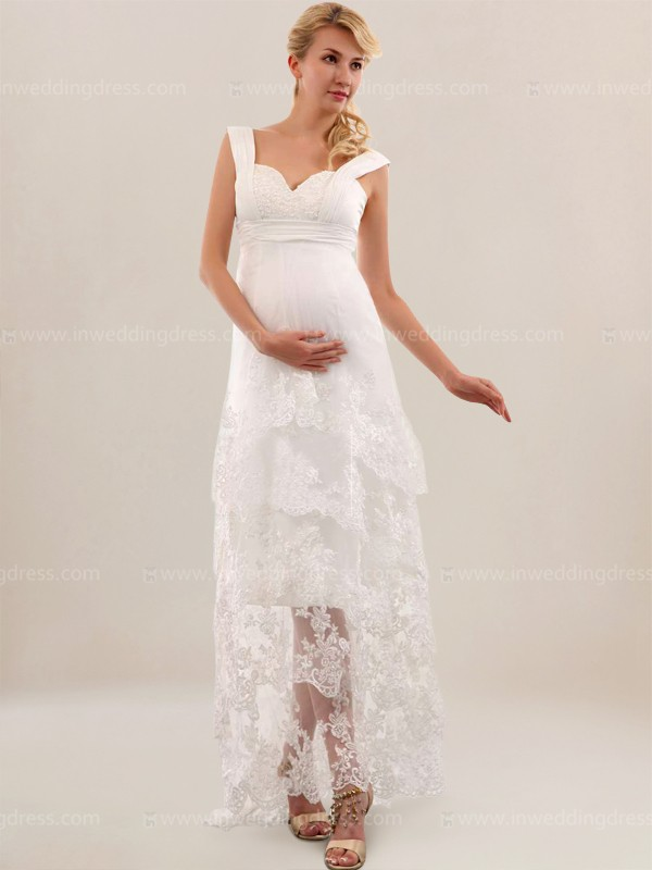 lace maternity wedding dresses photo - 1
