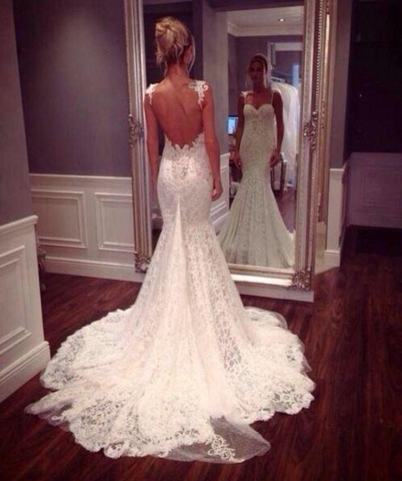 lace mermaid wedding dresses photo - 1