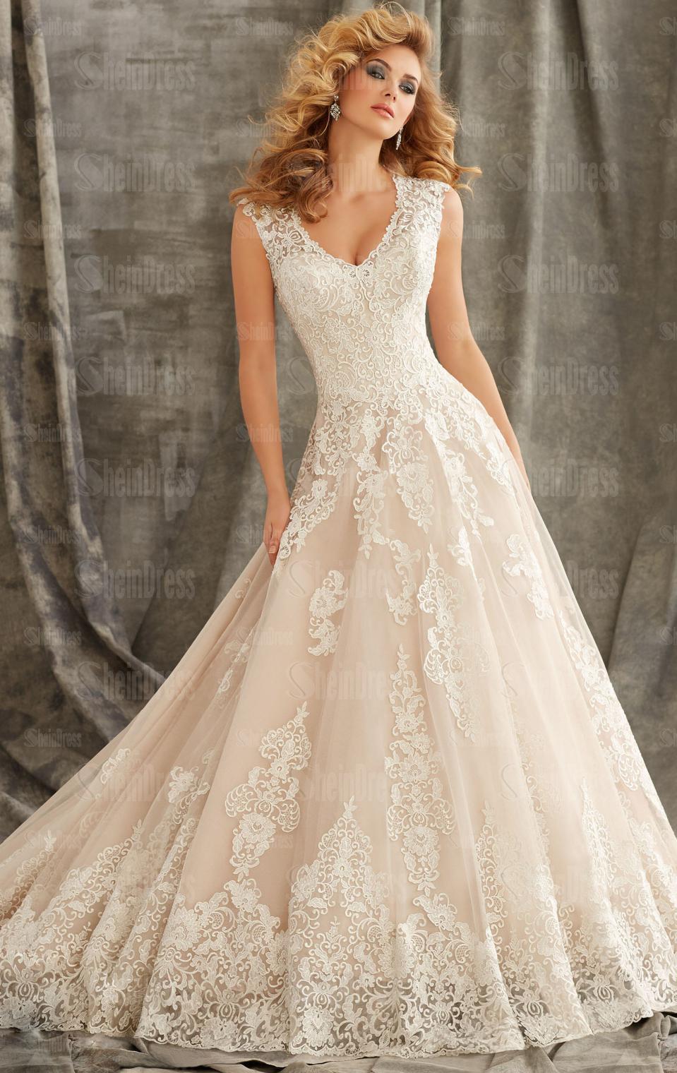 lace princess wedding dresses photo - 1