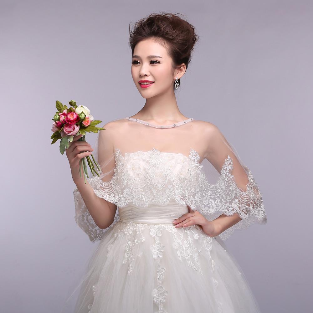 lace shrugs for wedding dresses photo - 1
