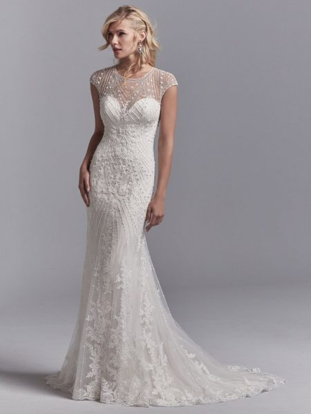 lace sleeve wedding dresses photo - 1