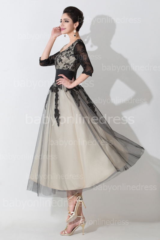 lace tea length wedding dresses photo - 1