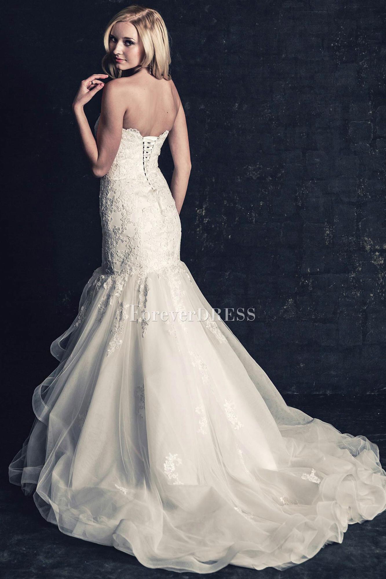 lace trumpet style wedding dresses photo - 1