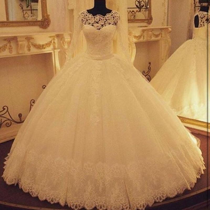 lace wedding dresses keyhole back photo - 1
