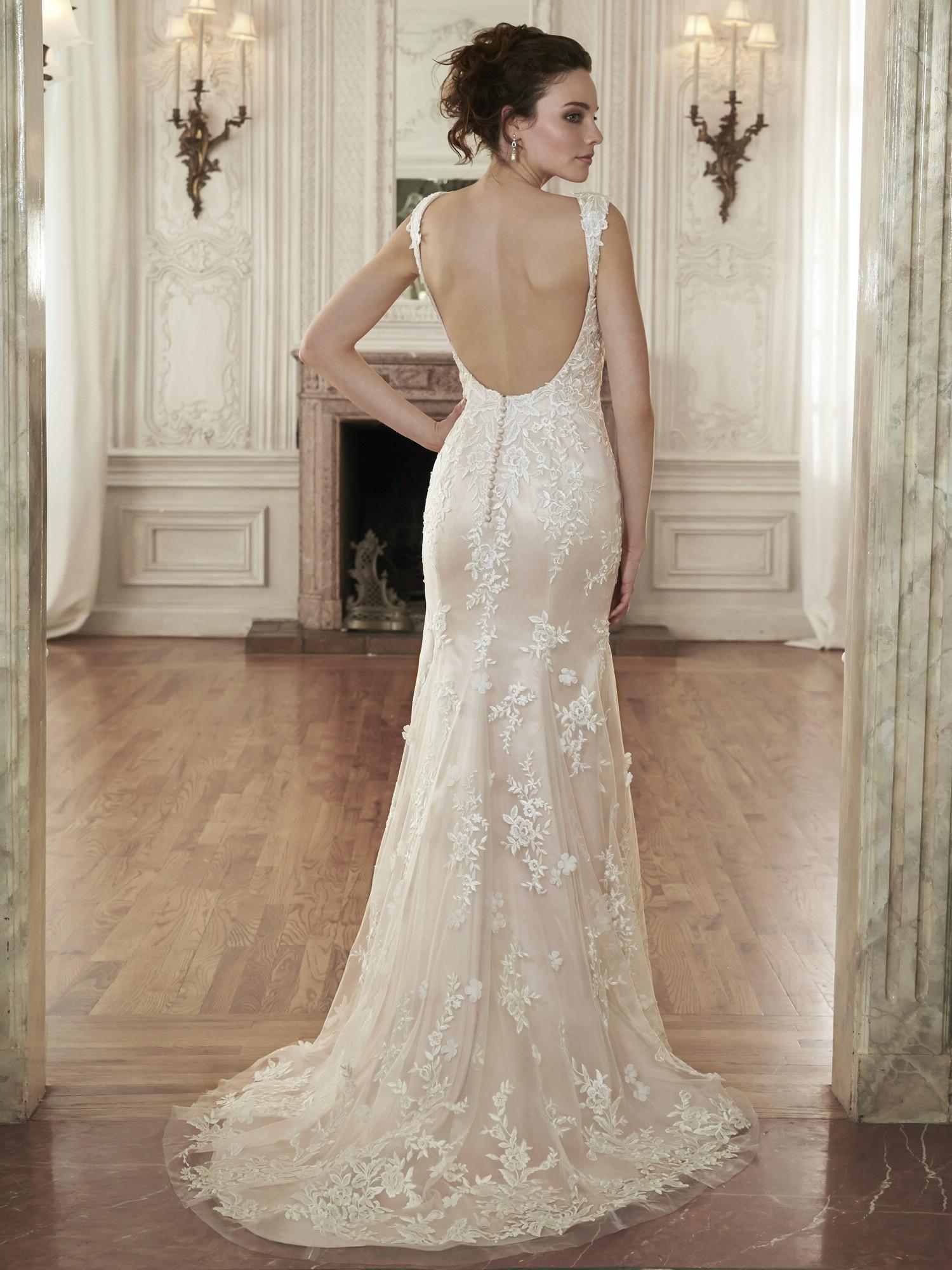 lace wedding dresses open back photo - 1