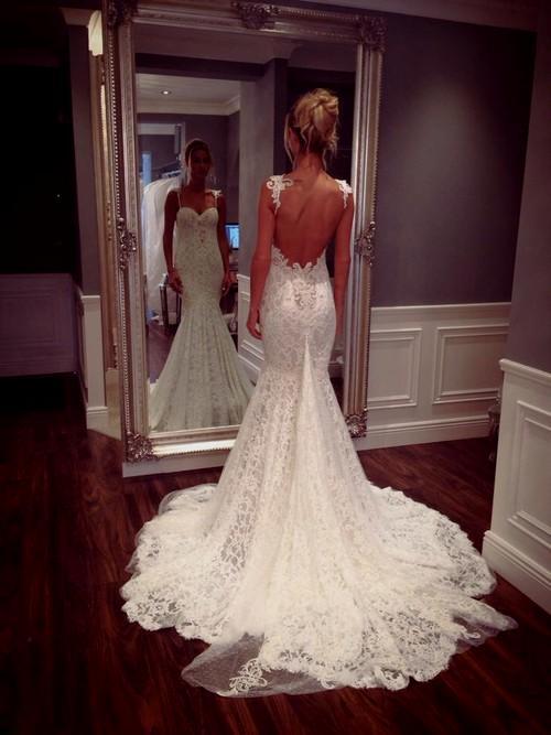 lace wedding dresses tumblr photo - 1