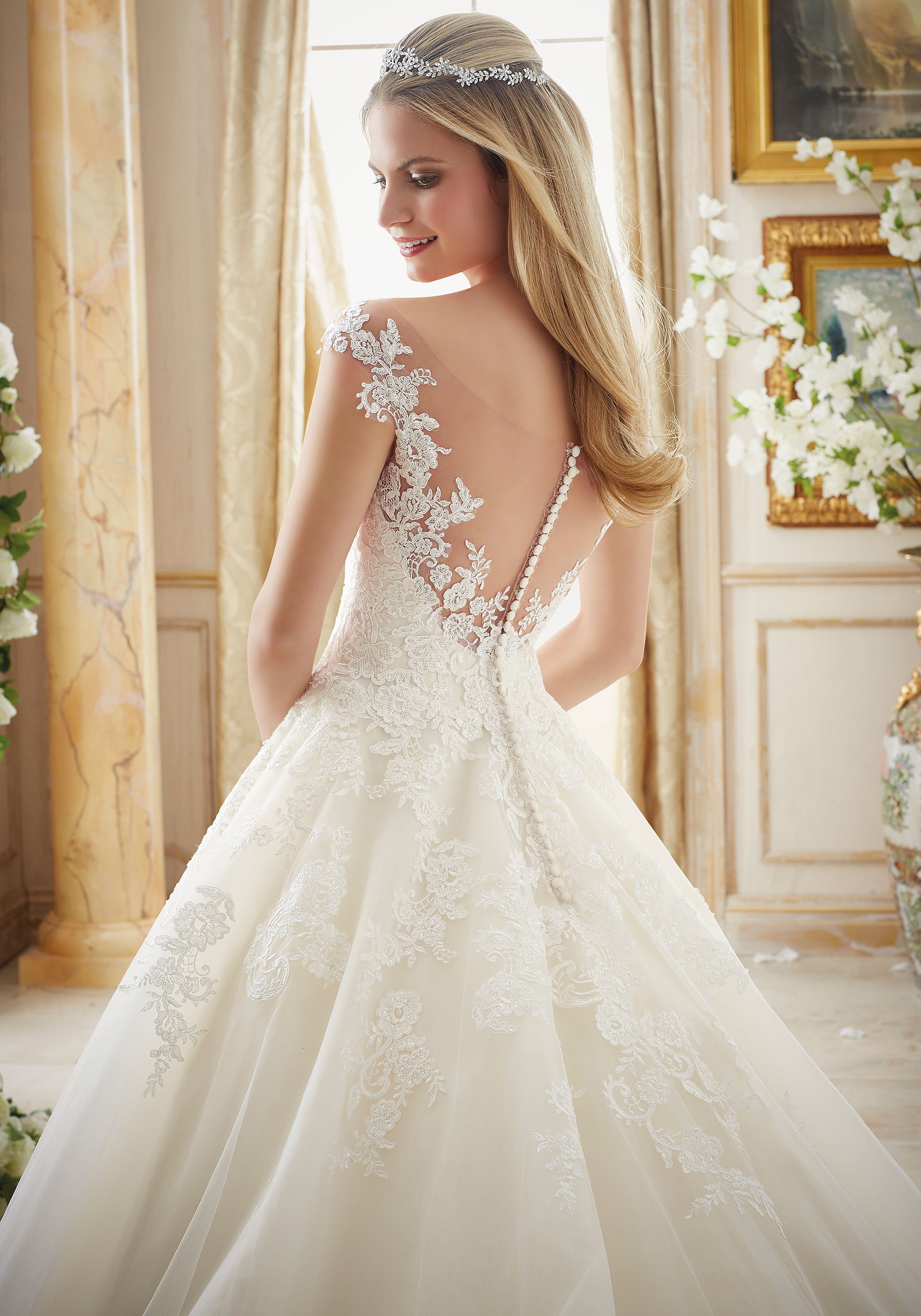 lace wedding dresses with belts photo - 1