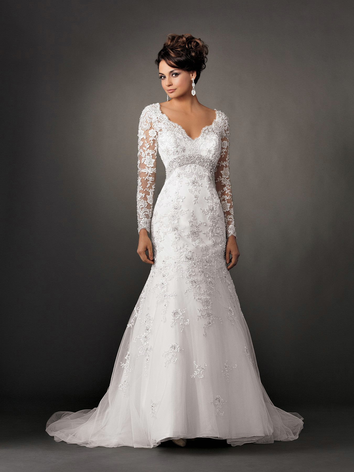 lace wedding dresses with sleeves photo - 1