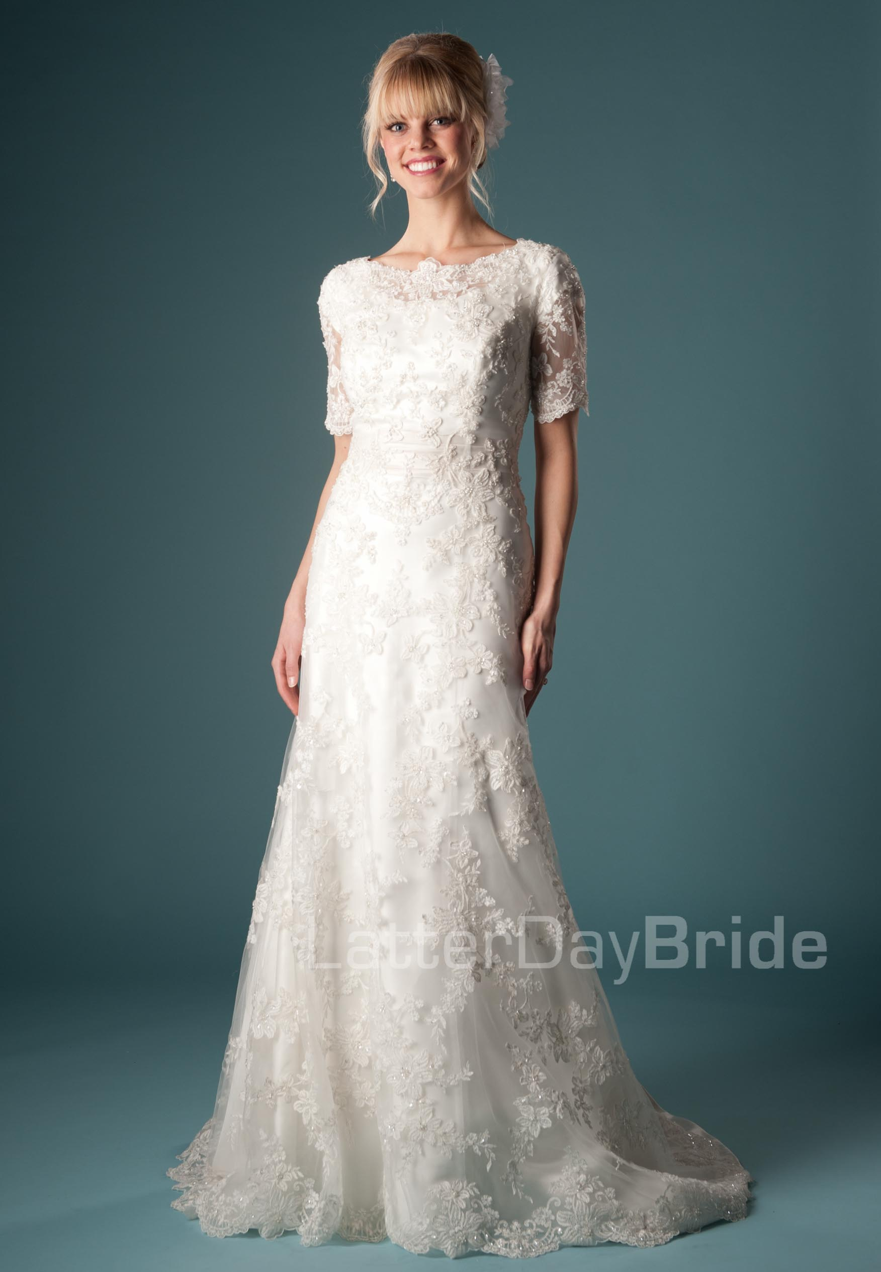 latter day saint wedding dresses photo - 1
