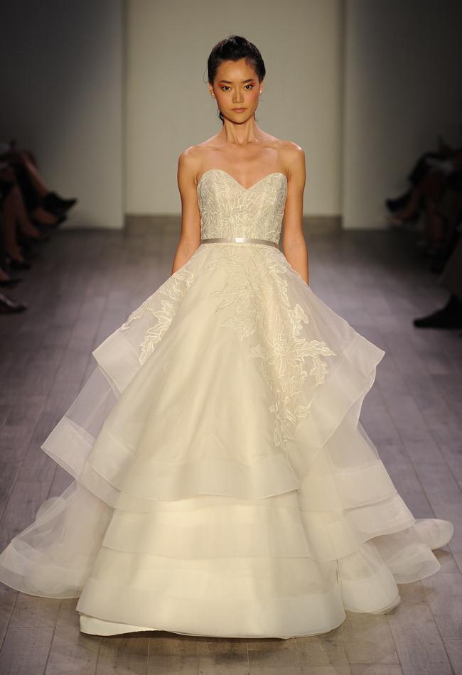lazaro lace wedding dresses photo - 1