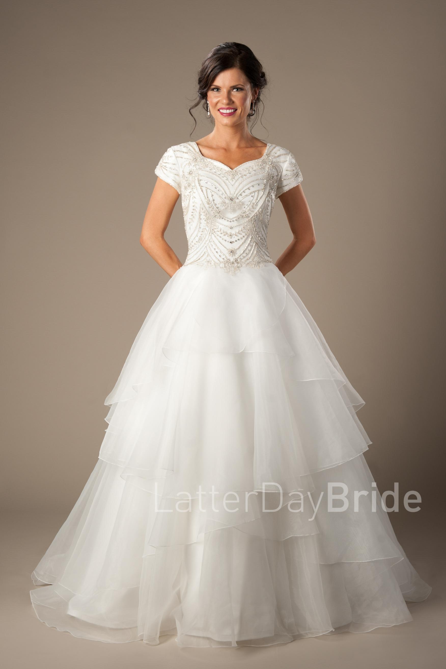 lds wedding dresses photo - 1