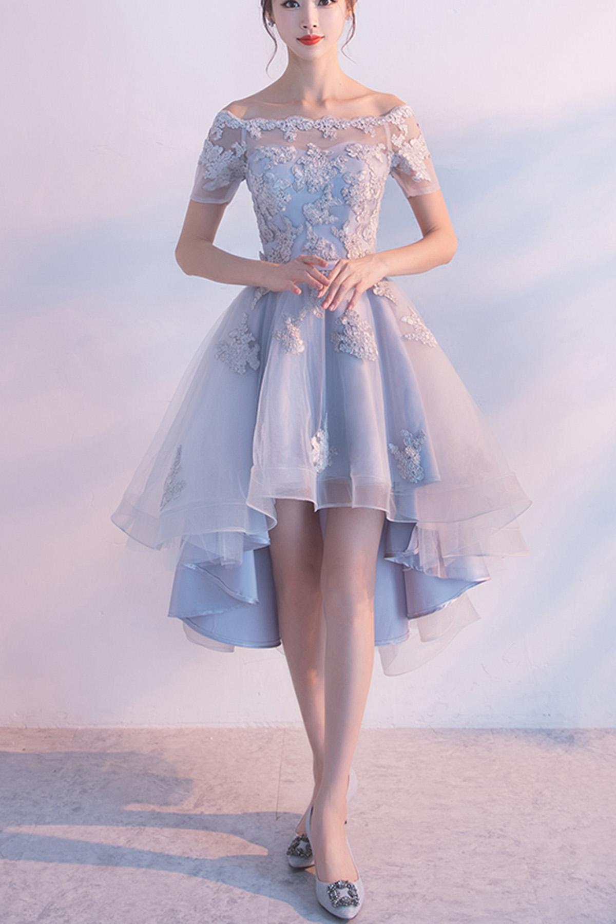 light gray wedding dresses photo - 1