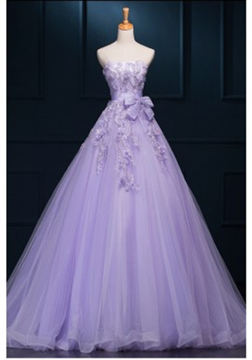 light pink wedding dresses photo - 1