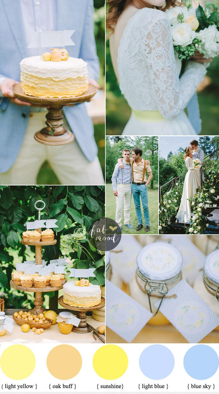 light yellow wedding dresses photo - 1