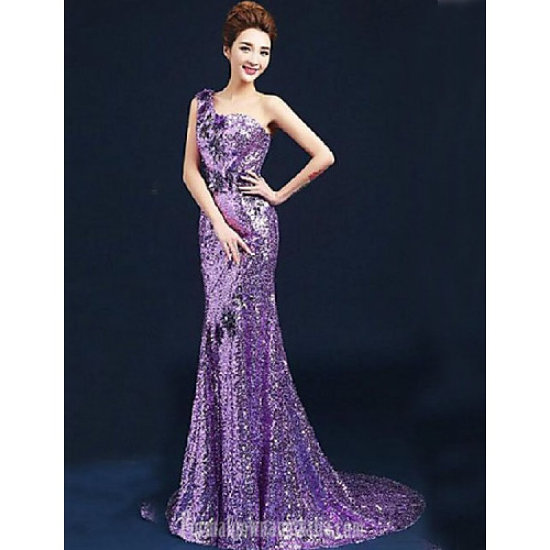 lilac evening dresses photo - 1