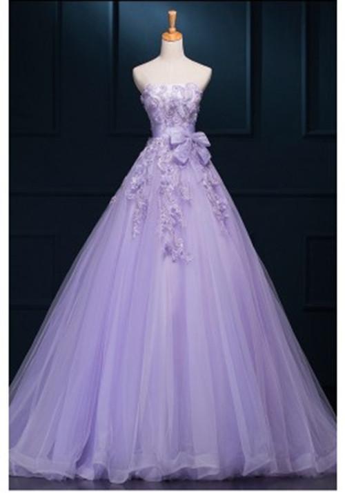 lilac wedding dresses photo - 1