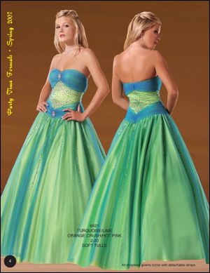 lime green wedding dresses photo - 1
