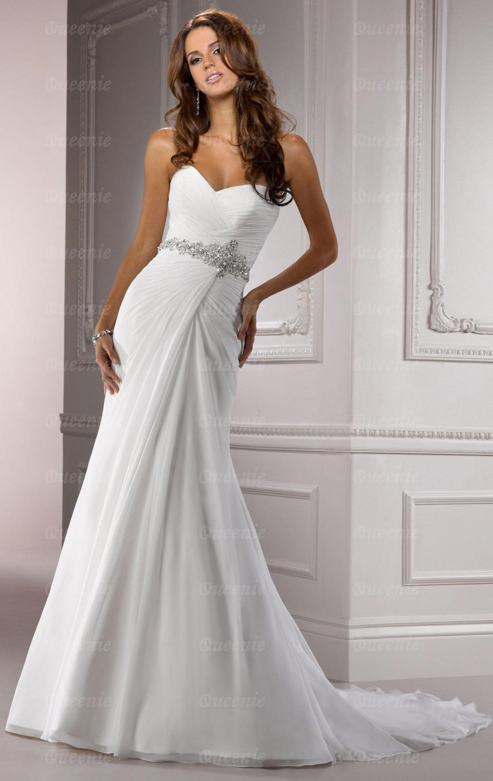 long fitted wedding dresses photo - 1