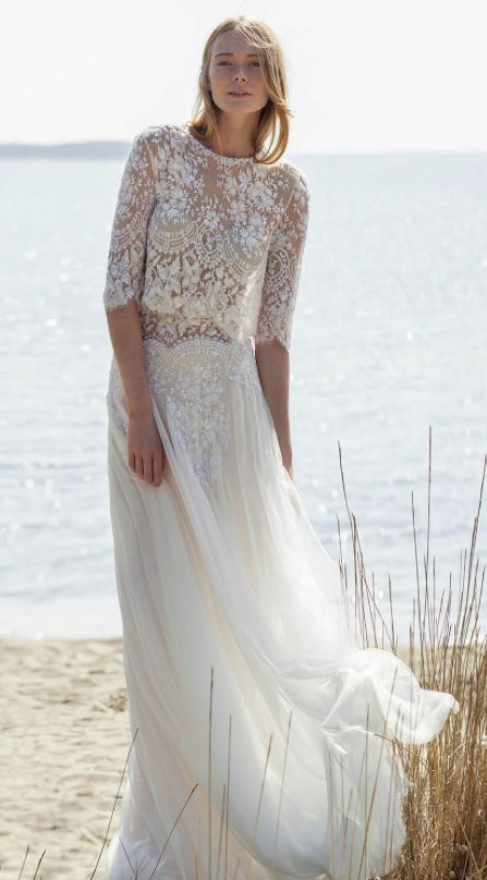 long flowy wedding dresses photo - 1