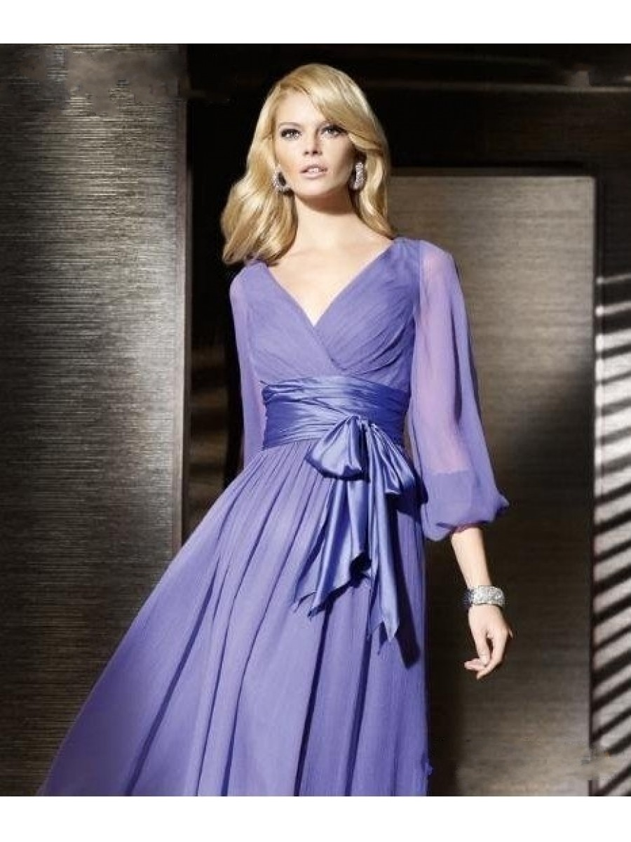 long formal dresses for wedding guest photo - 1