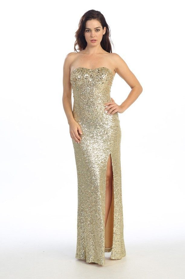 long gold evening dresses photo - 1
