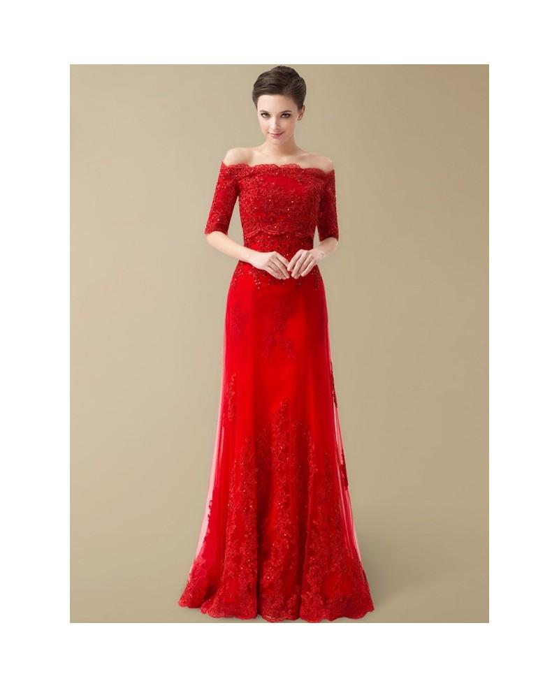 long red wedding dresses photo - 1
