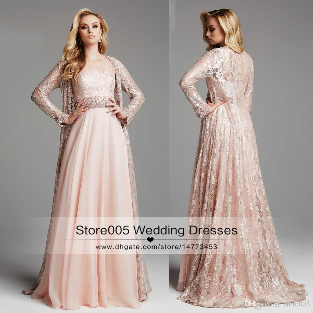 long sleeve chiffon wedding dresses photo - 1