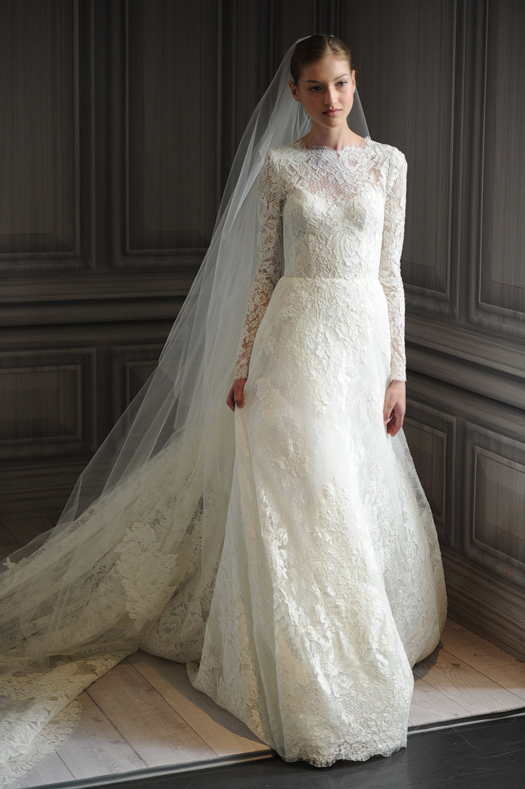long sleeve lace wedding dresses photo - 1