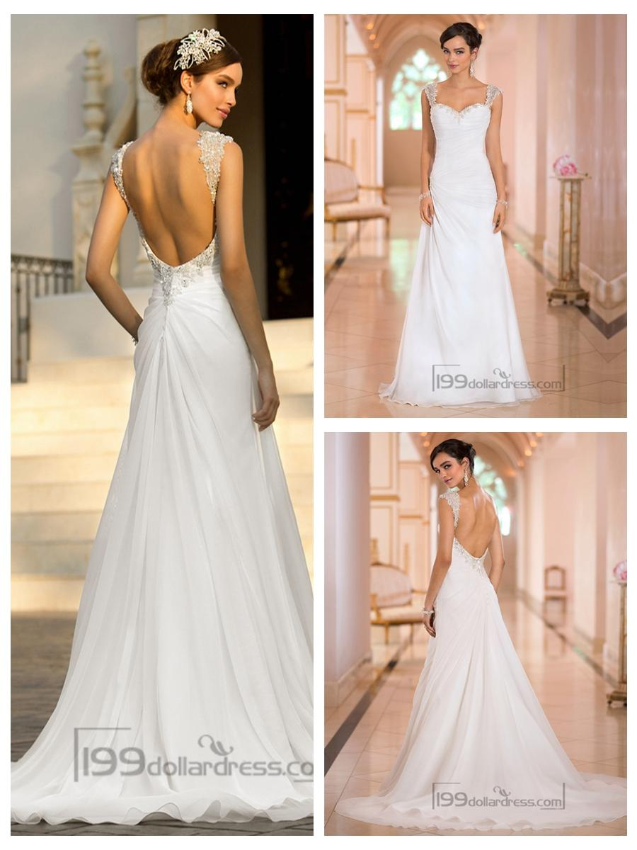 long sleeve low back wedding dresses photo - 1