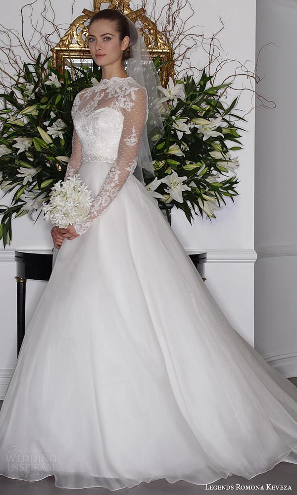 long sleeve silk wedding dresses photo - 1