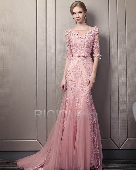 long sleeve wedding dresses cheap photo - 1