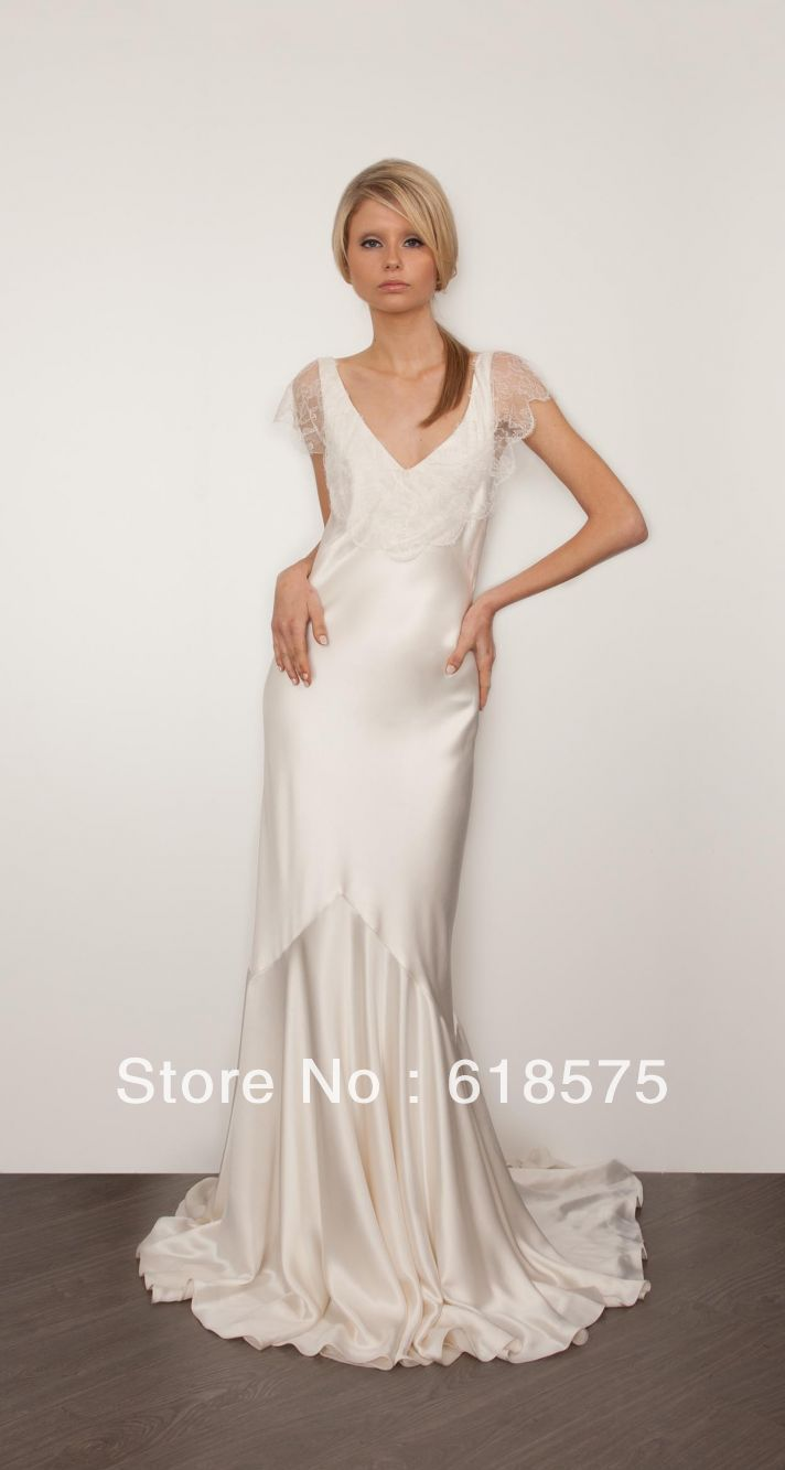 long sleeve wedding dresses short photo - 1