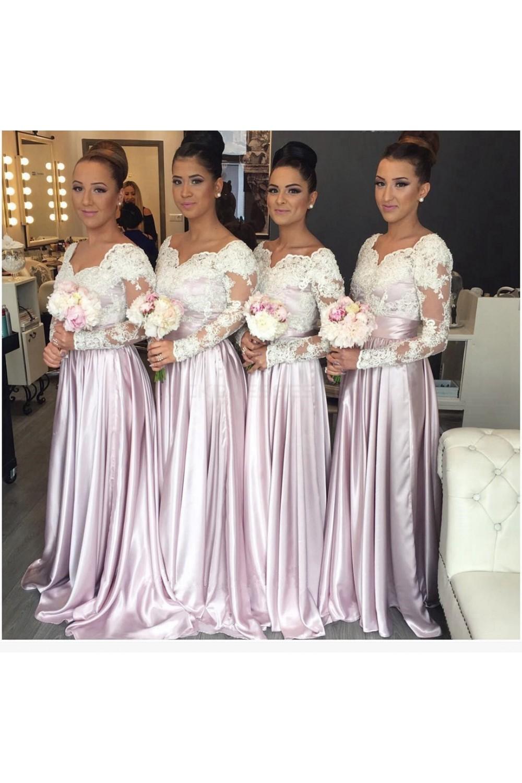 long sleeve wedding guest dresses photo - 1