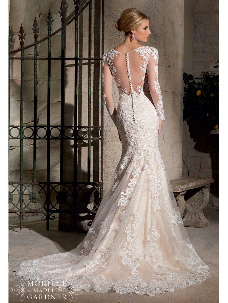 long sleeved lace wedding dresses photo - 1